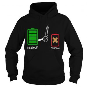 Battery source Nurse and Coronavirus  Hoodie