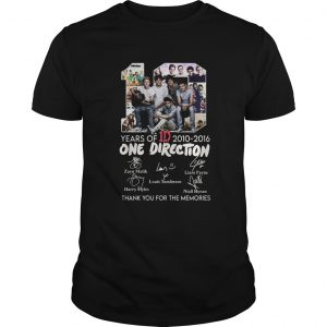 10 Years Of 1d 2010 2016 One Direction Thank You For The Memories Signatures  Unisex