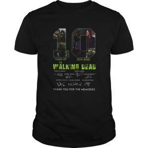 10 Years Of The Walking Dead 2010 2020 Anniversary  Unisex