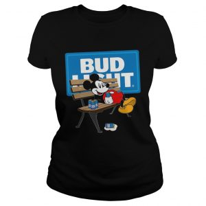 Mickey Mouse Drinking Bud Light Beer  Classic Ladies