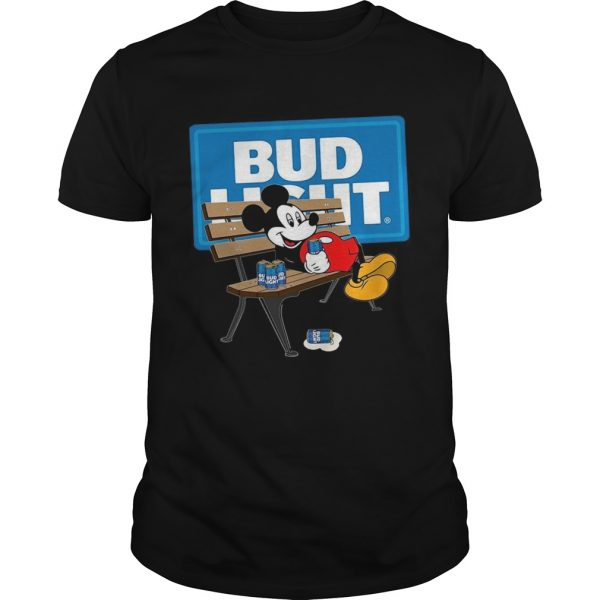 Mickey Mouse Drinking Bud Light Beer  Unisex