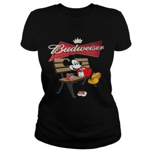 Mickey Mouse Drinking Budweiser Beer  Classic Ladies