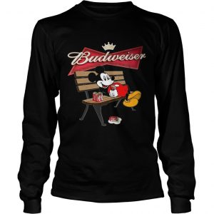 Mickey Mouse Drinking Budweiser Beer  Long Sleeve