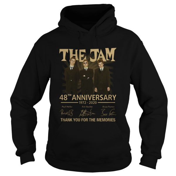 The Jam 48th Anniversary 1972 2020 Thank You For The Memories  Hoodie