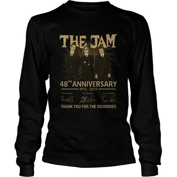 The Jam 48th Anniversary 1972 2020 Thank You For The Memories  Long Sleeve