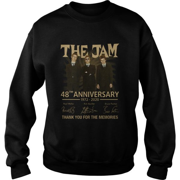 The Jam 48th Anniversary 1972 2020 Thank You For The Memories  Sweatshirt