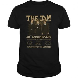 The Jam 48th Anniversary 1972 2020 Thank You For The Memories  Unisex