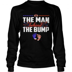 The man behind the bump American flag veteran Independence Day  Long Sleeve