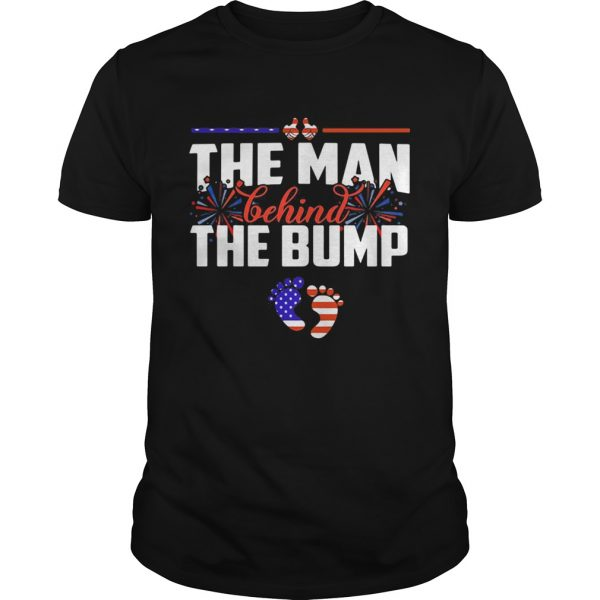 The man behind the bump American flag veteran Independence Day  Unisex