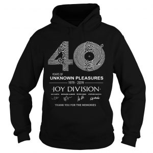 0 year of unknown pleasures 19792019 Joy Division Thank You for The Memories  Hoodie