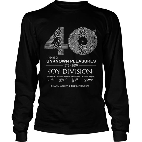 0 year of unknown pleasures 19792019 Joy Division Thank You for The Memories  Long Sleeve