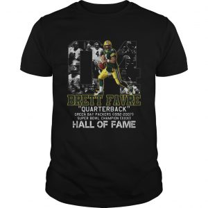 04 brett favre quarterback green bay packers 1992 2007 super bowl champion hall of fame  Unisex
