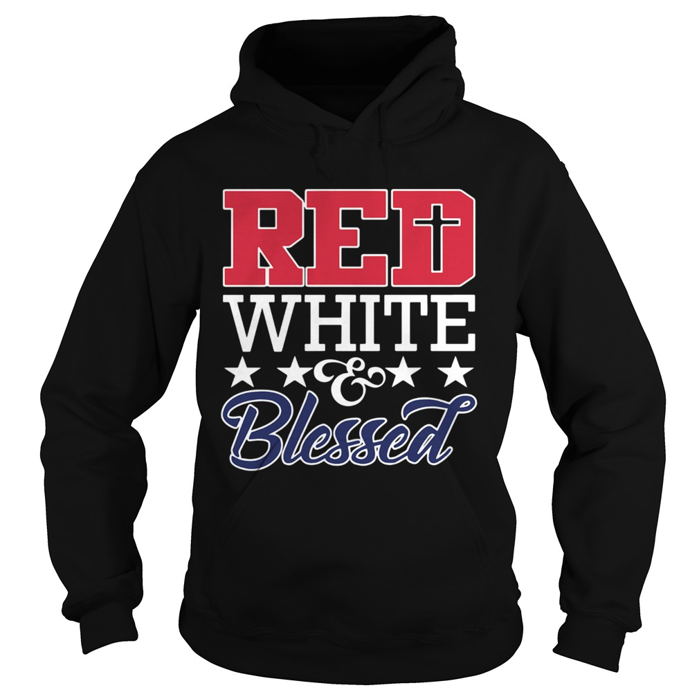 Red White And Blessed  Hoodie