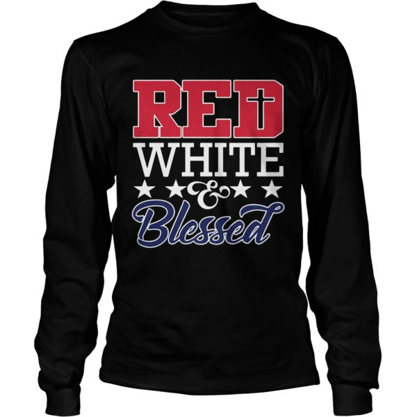 Red White And Blessed  Long Sleeve