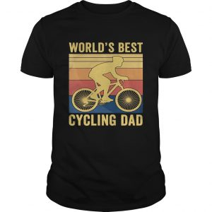 Worlds best cycling dad vintage retro  Unisex