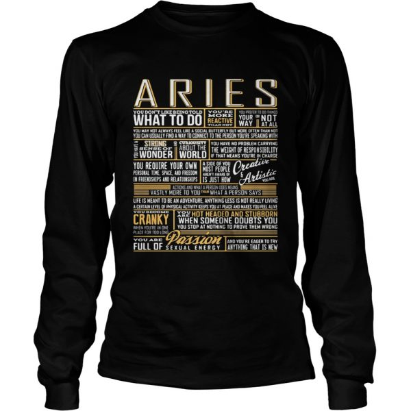 Aries What To Do Wonder World Cranky Paddion  Long Sleeve