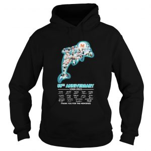 Miami dolphins logo 55th anniversary 1966 2021 thank you for the memories signatures  Hoodie
