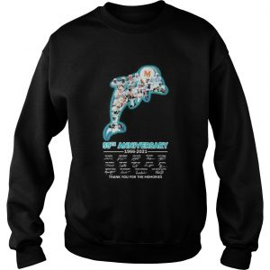 Miami dolphins logo 55th anniversary 1966 2021 thank you for the memories signatures  Sweatshirt