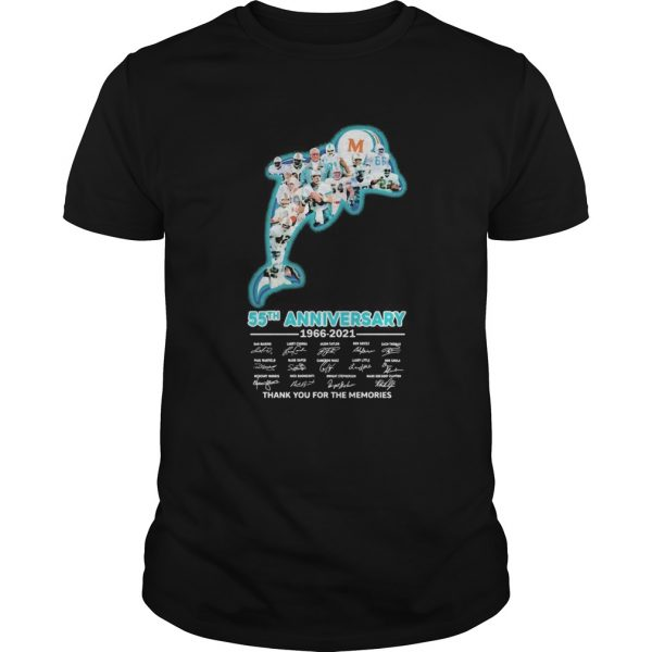 Miami dolphins logo 55th anniversary 1966 2021 thank you for the memories signatures  Unisex