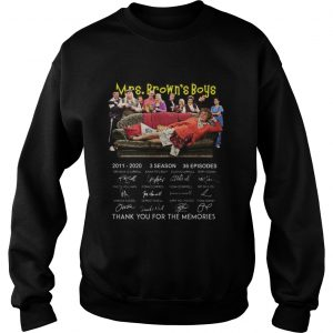 Pretty 10th Anniversary Mrs Browns Boys Thank You For The Memories Signatures  Sweatshirt