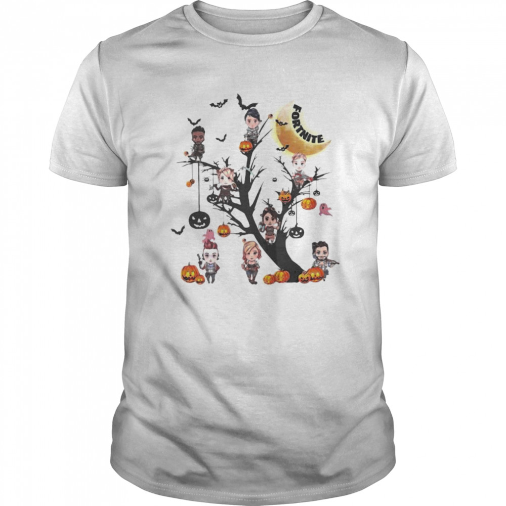 Fortnite Character Tshirt Pictures Happy Halloween Tree Fortnite Characters Shirt Trend T Shirt Store Online