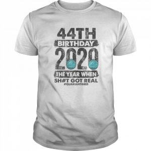 I Turned 44 In Quarantine 2020 44 years old 44th  Classic Men's T-shirt