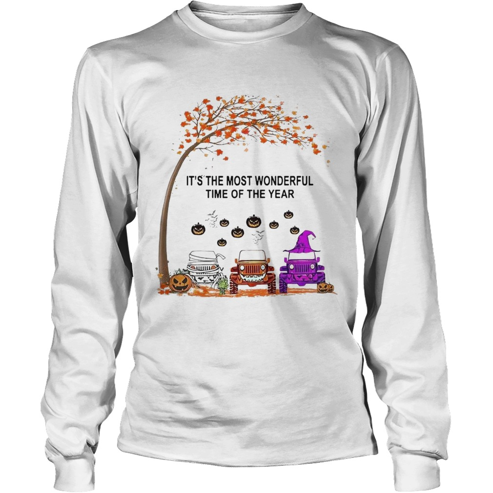 Jeep Is The Most Wondrful Time Of The Year Halloween  Long Sleeve