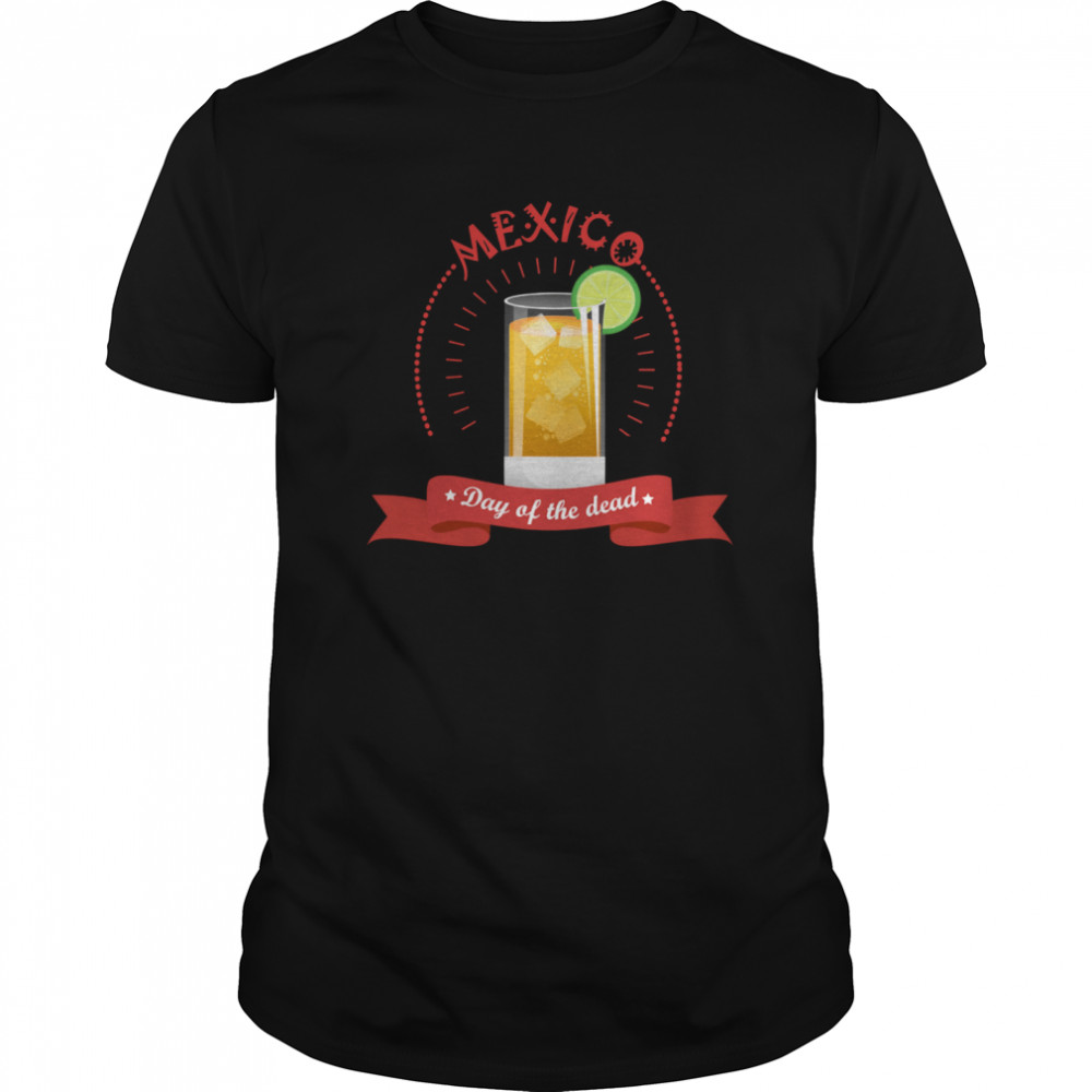 Mexico Liqueur Lemon Day Of The Dead  Classic Men's T-shirt