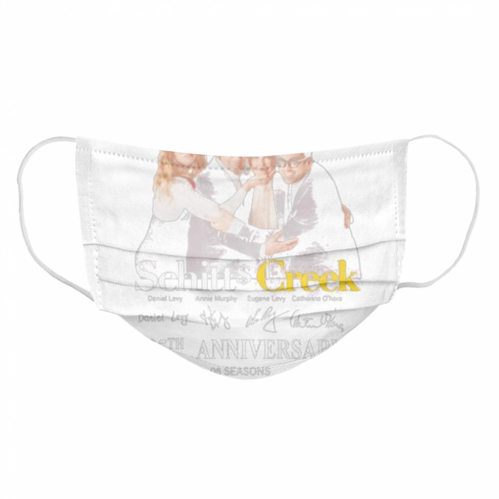 Schitt creek 05th anniversary 2015 2020 thank for the memories signatures  Cloth Face Mask