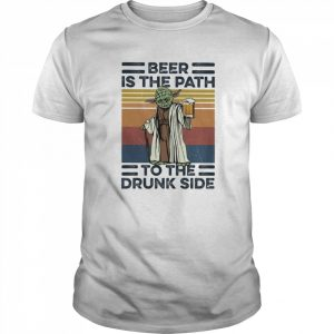 Yoda Beer Is The Path To The Drunk Side Vintage  Classic Men's T-shirt