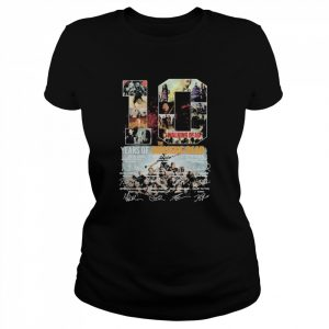 10 years of 2010 2020 the walking dead signatures  Classic Women's T-shirt