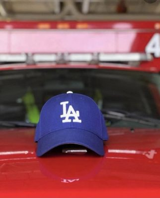 Los Angeles firefighters will be able to wear the Dodgers hat while on duty