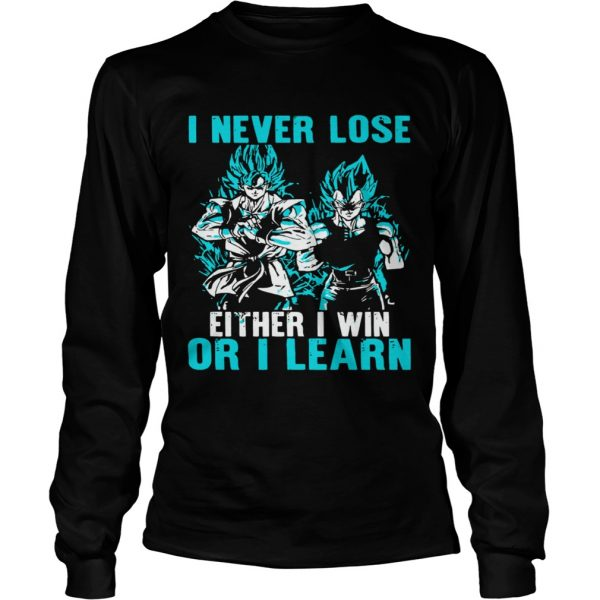 I Never Lose Either I Win Or I Learn  Long Sleeve