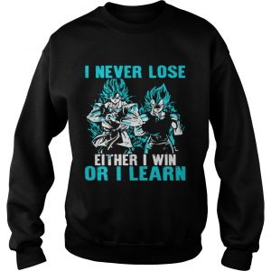 I Never Lose Either I Win Or I Learn  Sweatshirt