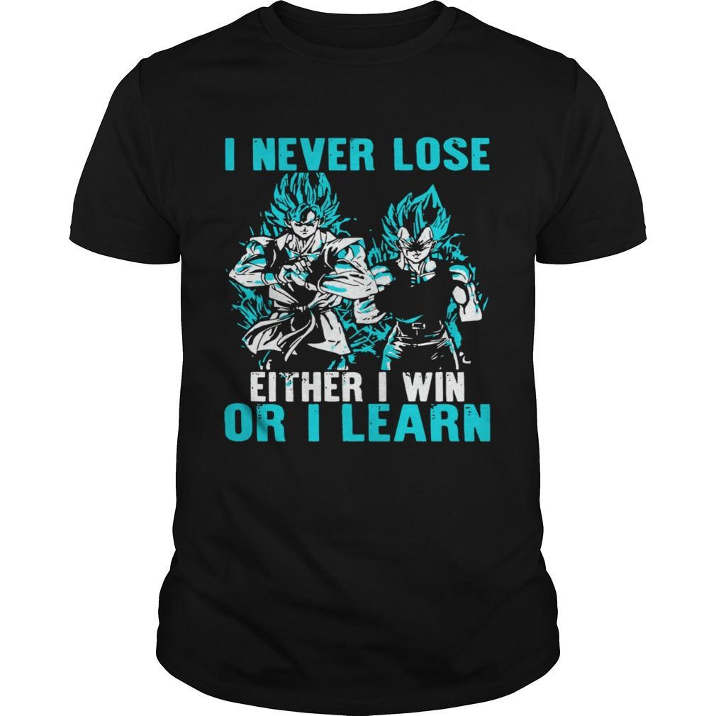 I Never Lose Either I Win Or I Learn  Unisex