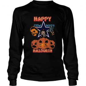 Michael Myers and Freddy Krueger and Jason Voorhees Happy Cow Boys Halloween  Long Sleeve