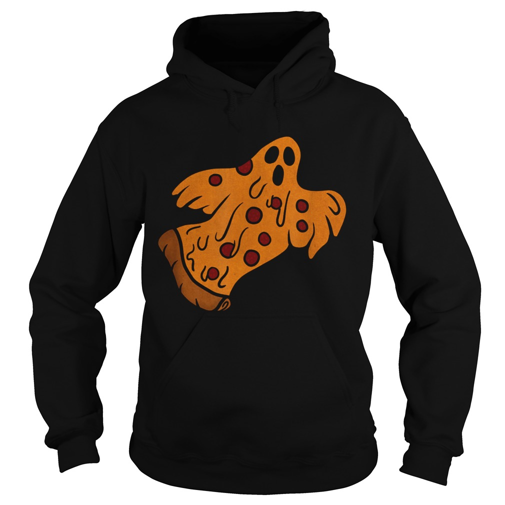 Pizza Halloween Ghost Scary Pizza  Hoodie