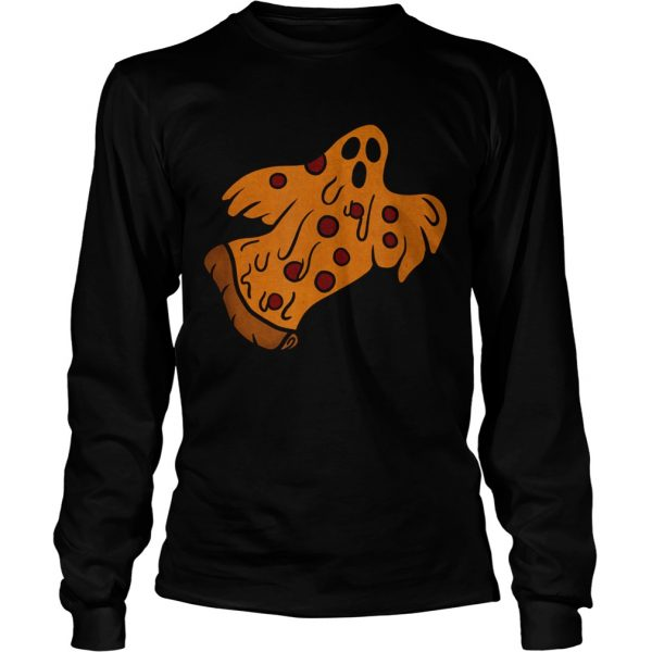 Pizza Halloween Ghost Scary Pizza  Long Sleeve