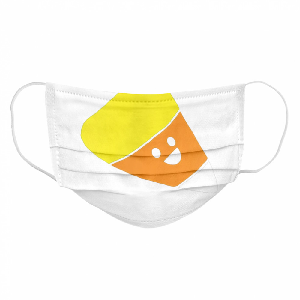Smiling candy corn  Cloth Face Mask