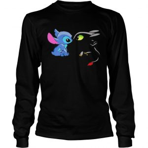 Stitch and toothless cartoon  Long Sleeve