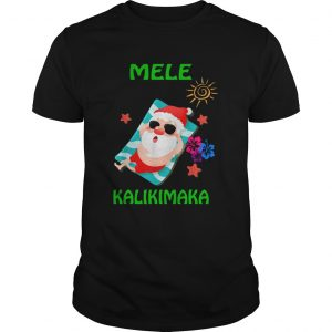 Beach Santa Mele Kalikimaka Hawaiian Christmas Hawaii  Unisex