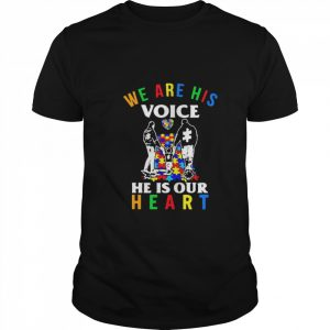 Autism we are his voice he is out heart  Classic Men's T-shirt