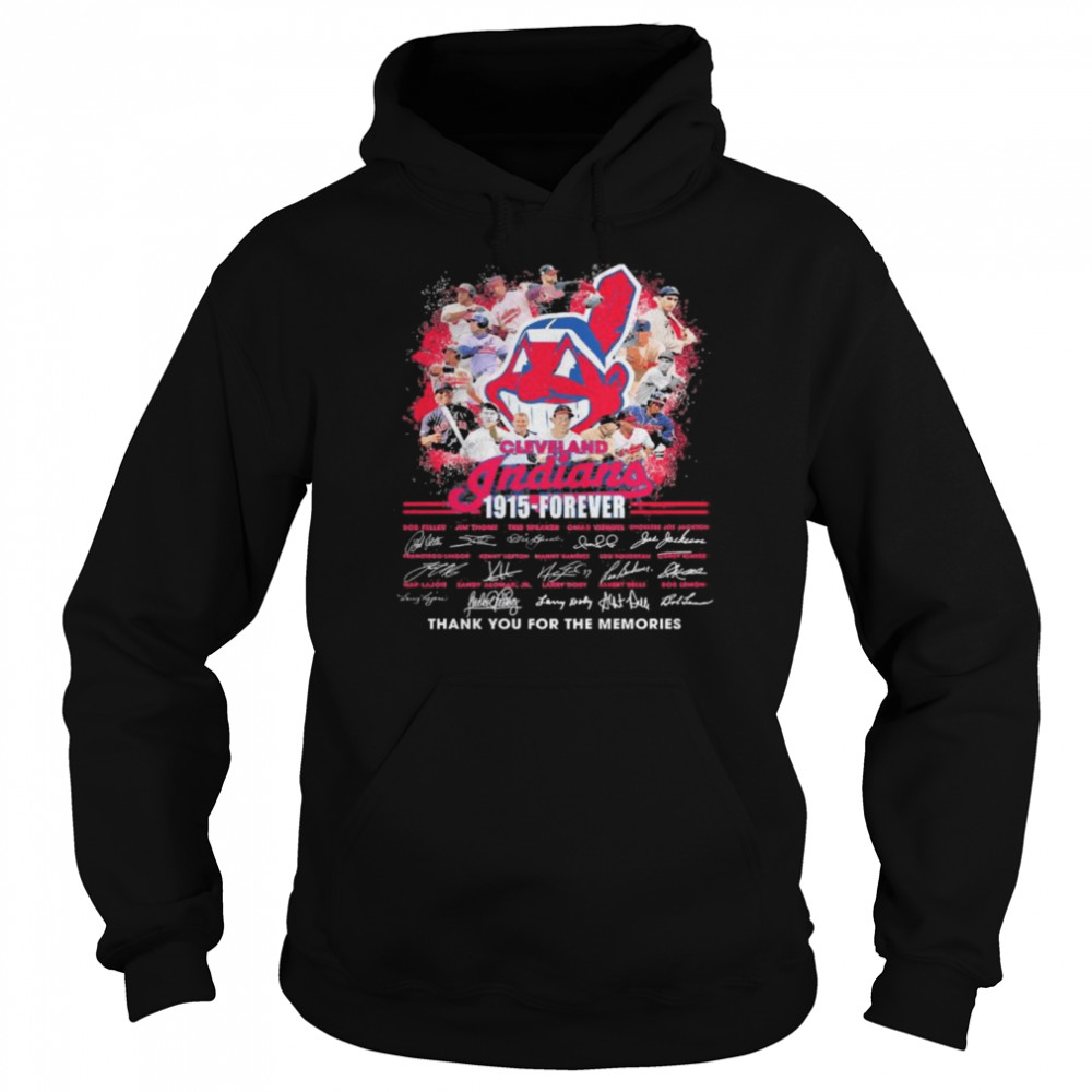 Cleveland Indians 1915 Forever thank you for the memories signatures  Unisex Hoodie
