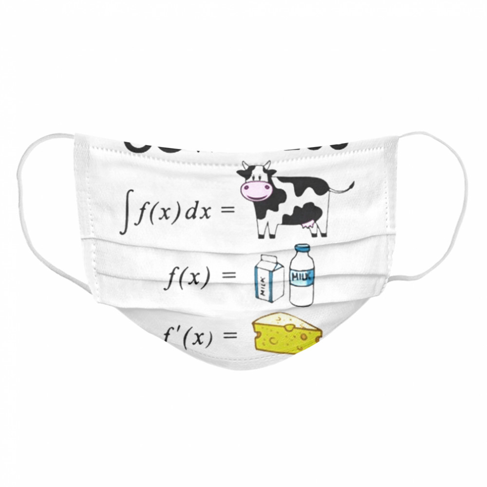 Cowculus Cow Milk Cheese  Cloth Face Mask