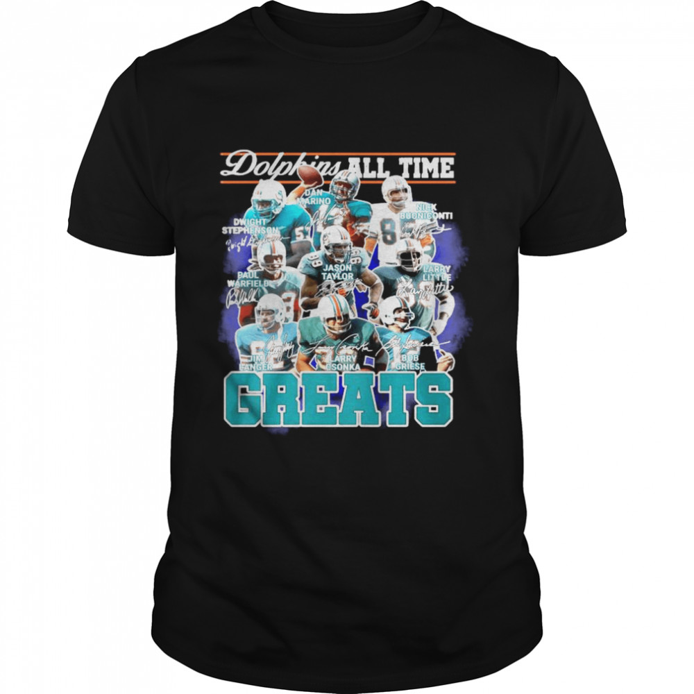 Dolphins All Time Greats Team Play Signatures  Classic Men's T-shirt