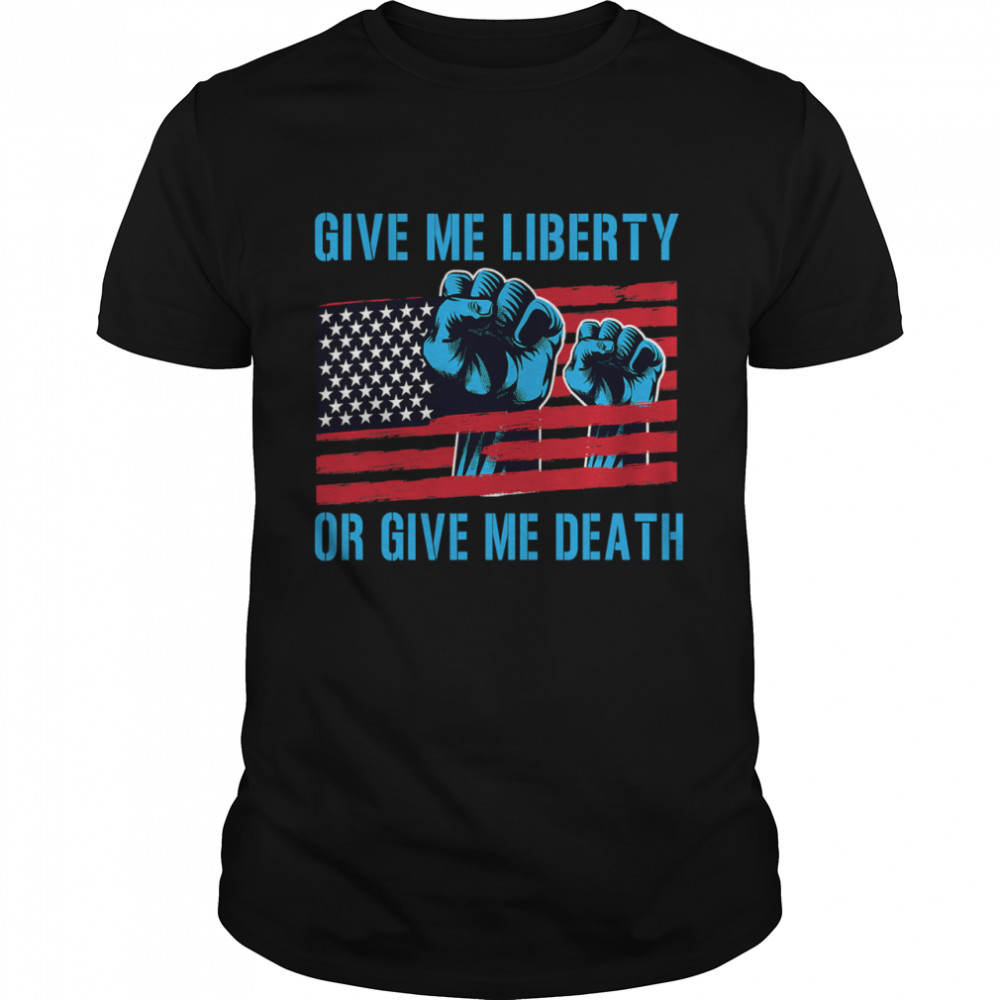 Give Me Liberty Or Give Me Death Patriotic Anti Lockdown Usa Flag  Classic Men's T-shirt
