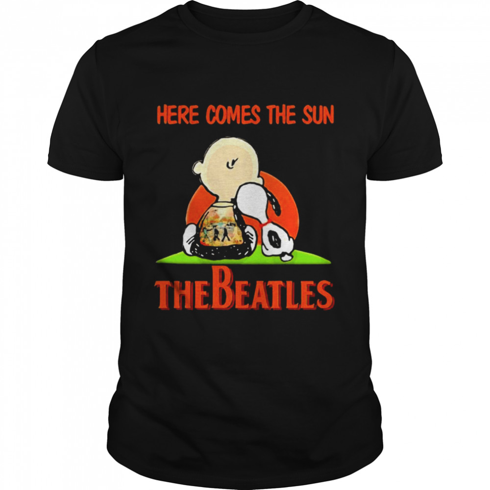 Here Comes The Sun The Beatles Snoopy Friend  Classic Men's T-shirt