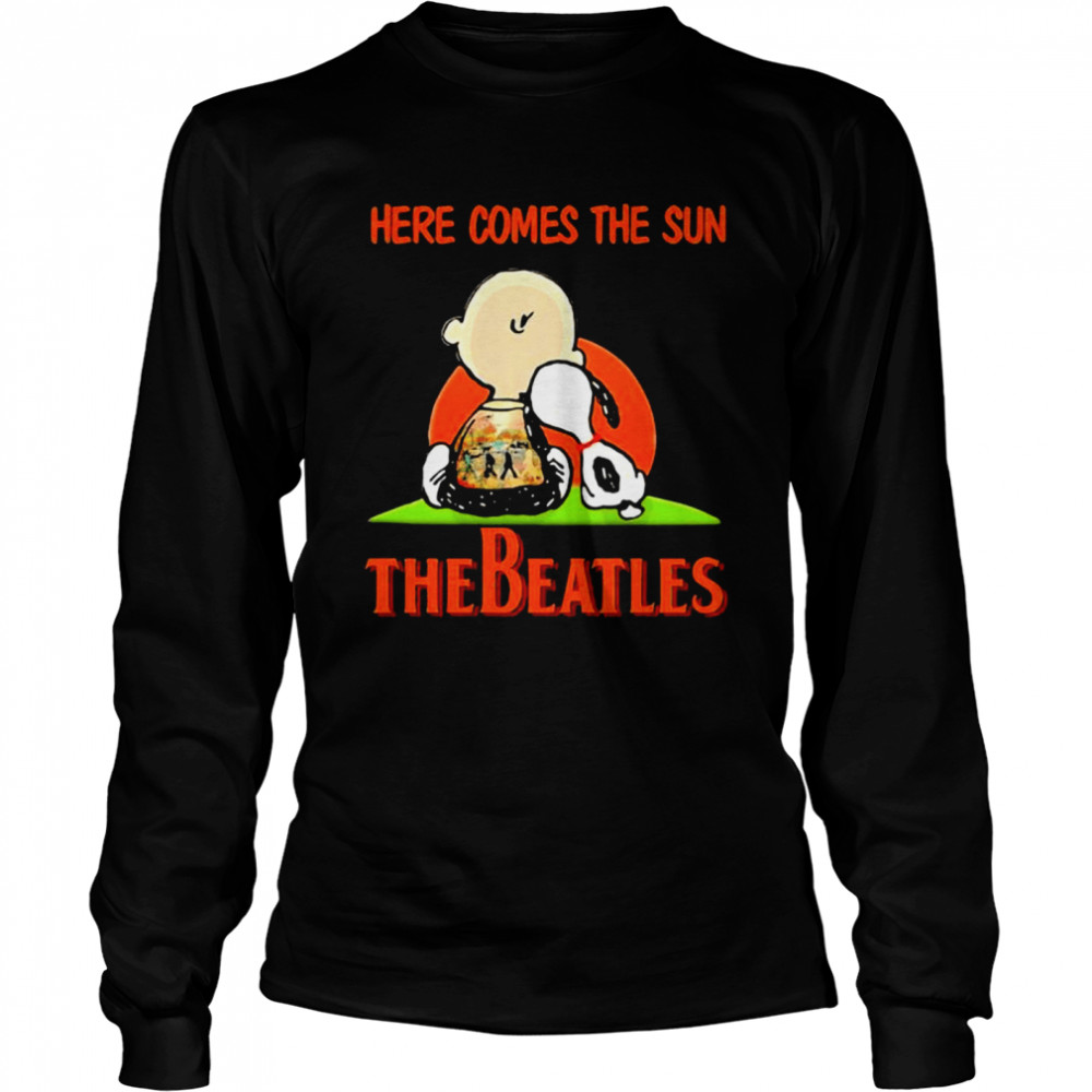 Here Comes The Sun The Beatles Snoopy Friend  Long Sleeved T-shirt