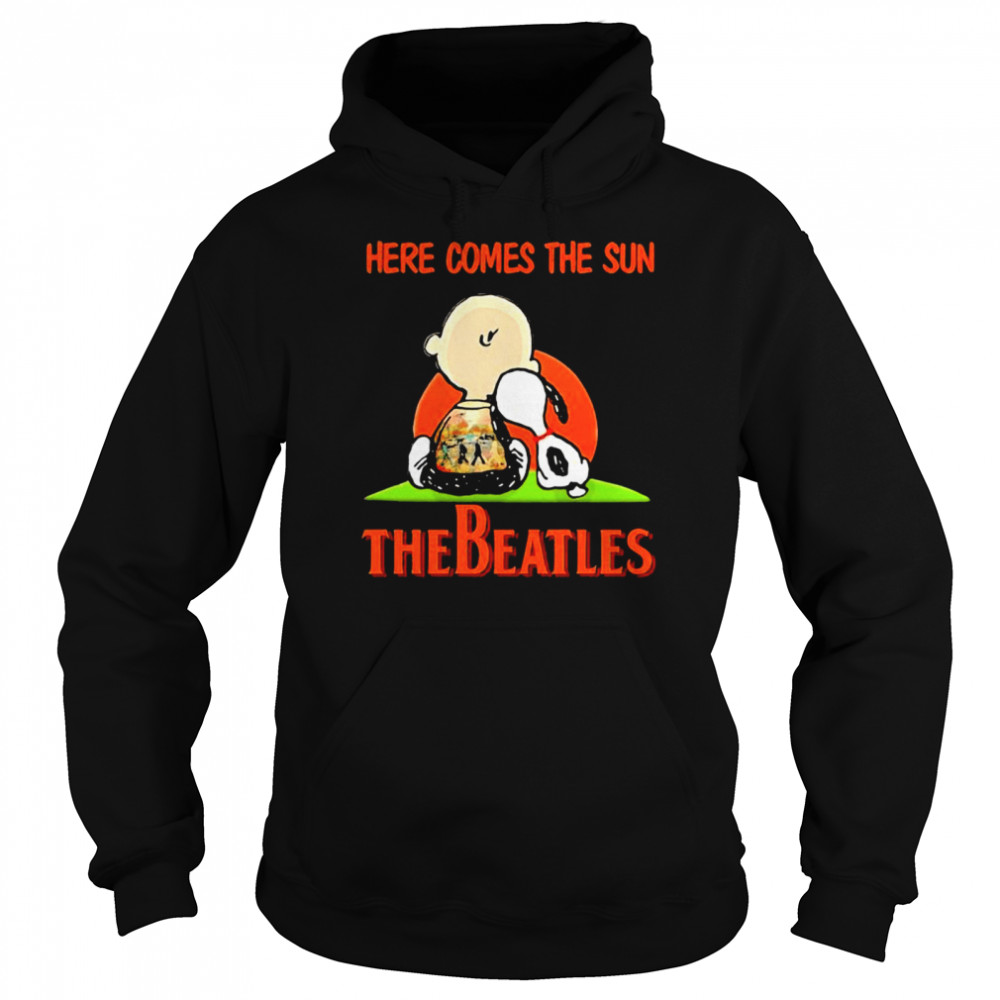 Here Comes The Sun The Beatles Snoopy Friend  Unisex Hoodie