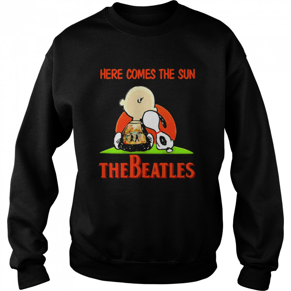 Here Comes The Sun The Beatles Snoopy Friend  Unisex Sweatshirt